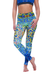 Ladies leggings Funny Colors in Blue - LegCode