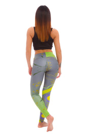 Ladies leggings Baroque Abstract in Green - LegCode