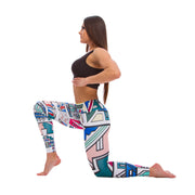 Ladies leggings The Touch of Africa in White - LegCode