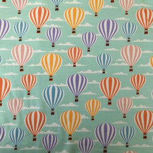 Hot Air Balloons Cotton Jersey - Contour Shape