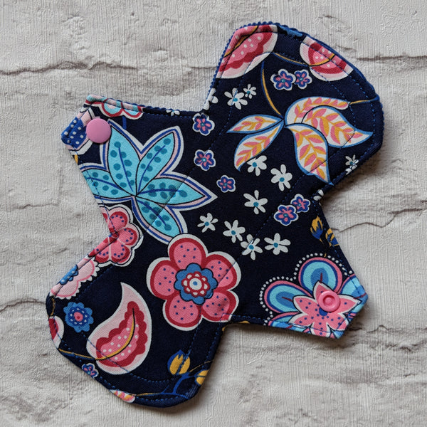 "8"" Light Flow Menstrual Pad - Standard - Contour - Cotton Jersey"