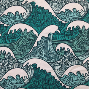 Big Waves Cotton Jersey - Contour Shape