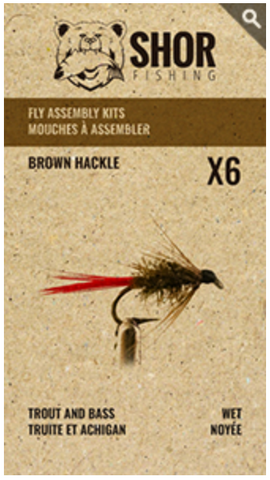 MOUCHE À ASSEMBLER (BROWN HACKEL)
