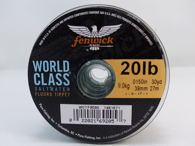 FLUOROCARBONE FENWICK WORLD CLASS SALTWATER 30 YDS