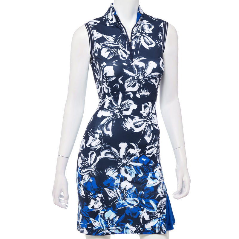 Floral Swoosh Border Dress