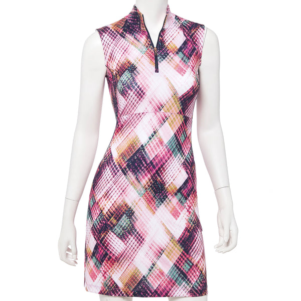 Ethnic Argyle Plaid Dress