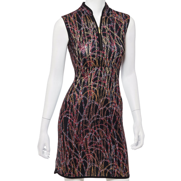Cascading Chains Print Dress