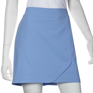 Curved Faux Wrap Skort