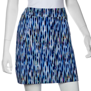 Striated Feather Print Skort