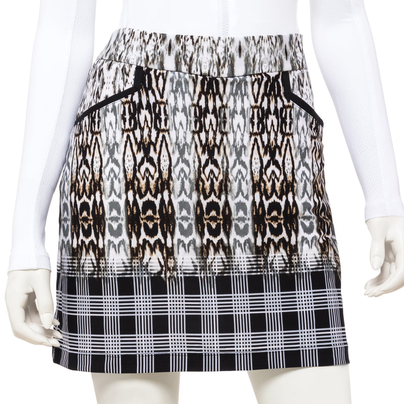 19 Inch Abstract Animal Plaid Skort - EPNY