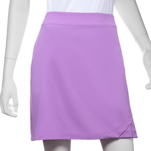 Asymmetric Pleat Hem Detail Skort