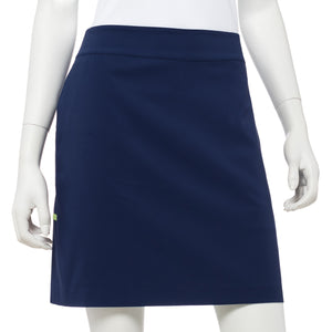 Contrast Tape Trim Pleat Hem Skort