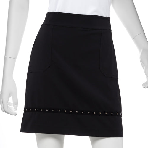 Faceted Stud Tape Trim Skort