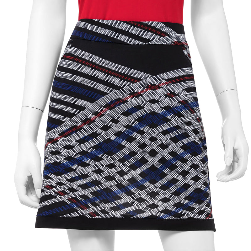 Houndstooth Check Bias Plaid Print Skort - EPNY