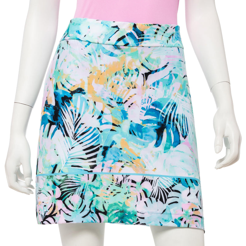 Watercolor Tropical Border Print Skort - EPNY