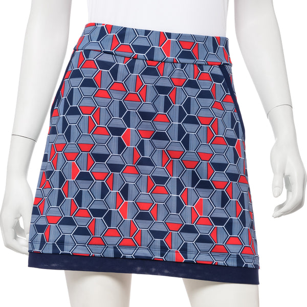 Linear Hexagon Print Skort - EPNY