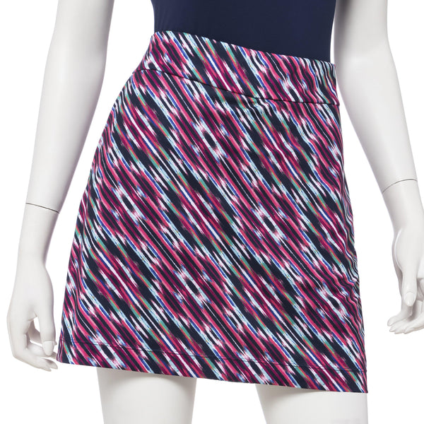 17.5 INCH STRIATED BIAS IKAT SKORT