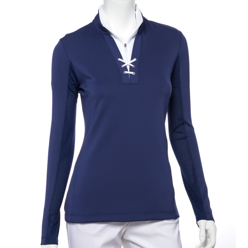 Long Sleeve Eyelet Lacing Trim Pullover - EPNY