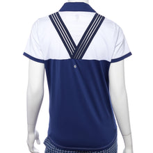 Short Sleeve Color Block Filament Tape Trim Polo