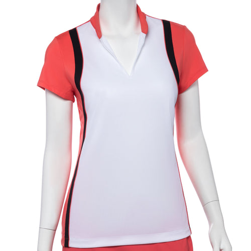 Cap Sleeve Color Blocked Polo - EPNY