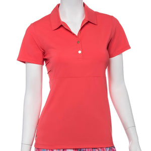 Short Sleeve Crosshatch Mesh Jacquard Blocked  Polo