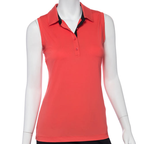 Sleeveless Color and Mesh Blocked Polo - EPNY