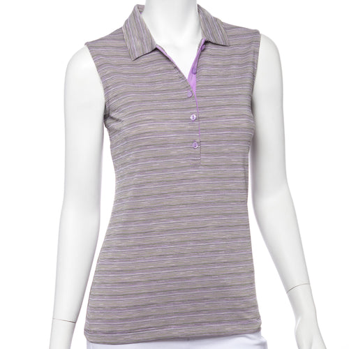 Sleeveless Space Dye Jacquard Polo