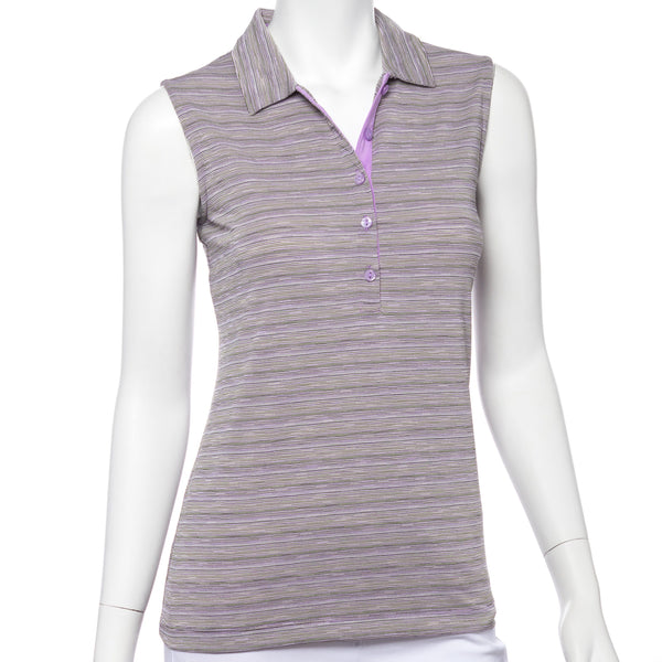 Sleeveless Space Dye Jacquard Polo - EPNY