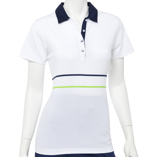 Short Sleeve Tape & Mesh Trim Polo