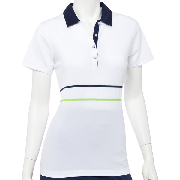Short Sleeve Tape & Mesh Trim Polo - EPNY