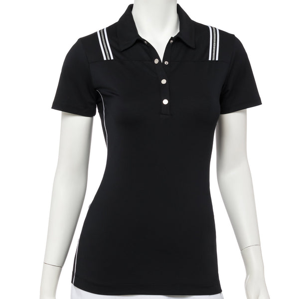 Short Sleeve Metallic Tubular Tape Trim Polo - EPNY