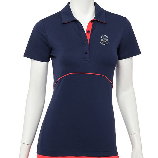 2020 U.S. Open Short Sleeve Contrast Piping & Tape Trim Polo - EPNY