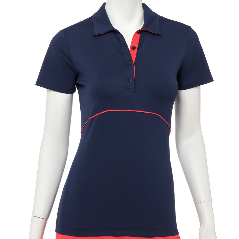 Short Sleeve Contrast Piping & Tape Trim Polo - EPNY