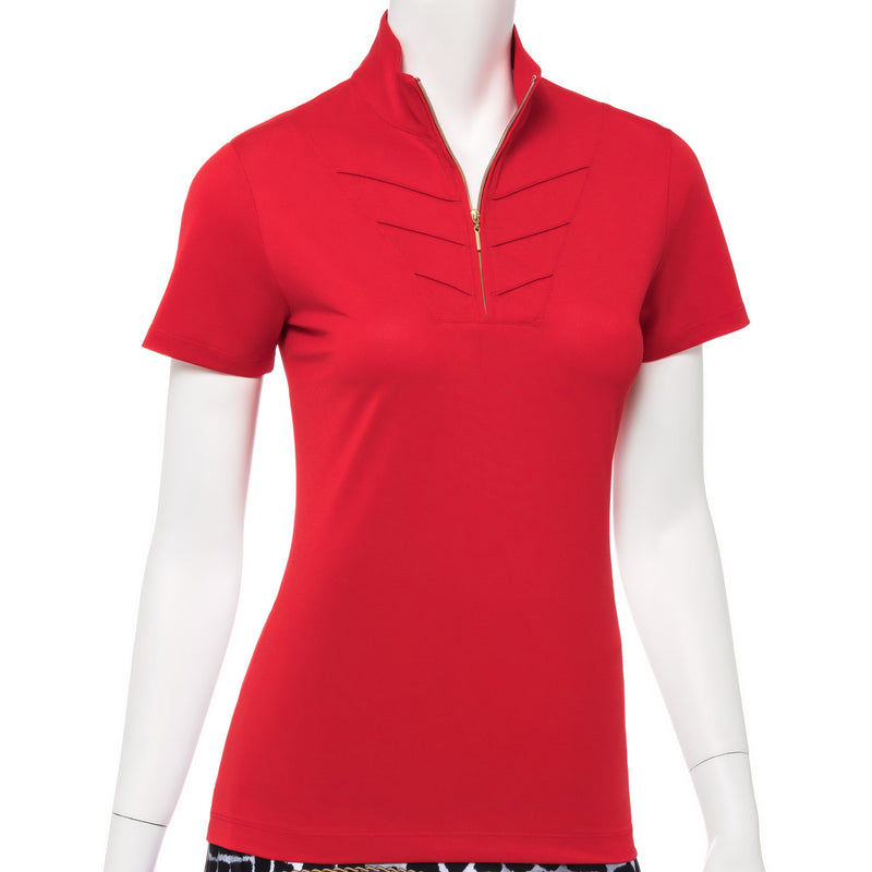 SHORT SLEEVE CONVERTIBLE ZIP COLLAR POLO