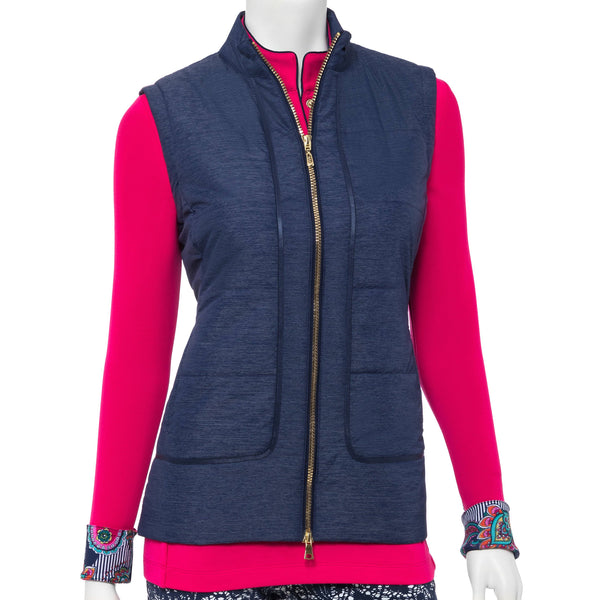 Quilt Vest w/Ribbon Trim Detail - EPNY