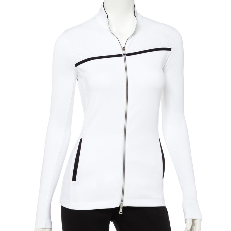 Long Sleeve Contrast Tape Trim Jacket - EPNY