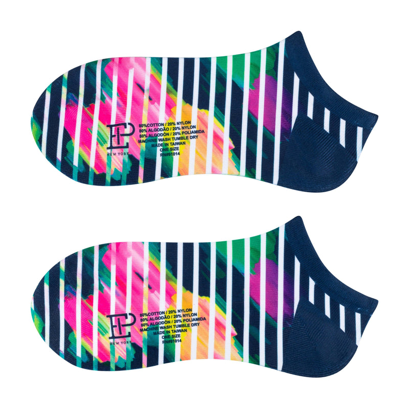 Watercolor Stripe Print Sport Sock - EPNY