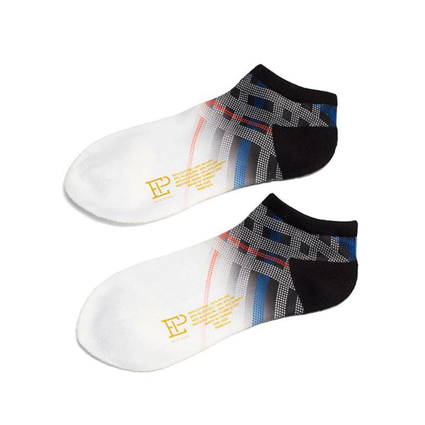 Fade Houndstooth Check Print Sport Sock - EPNY