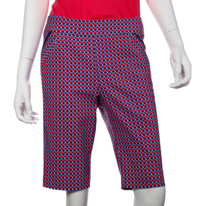 Tricolor Neat Geo Print Compression Short