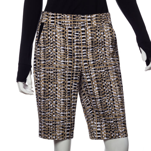 Tribal Wood Grain Print Compression Short