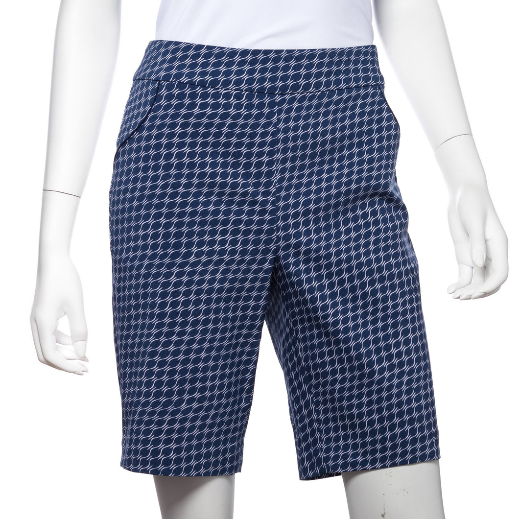 Elliptical Geo Print Compression Short