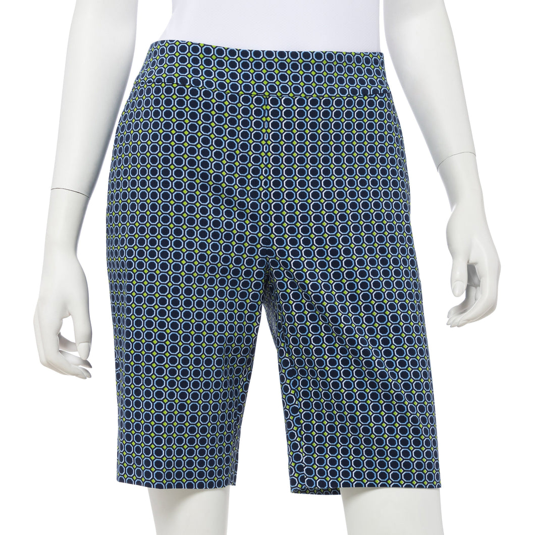 Octagonal Geo Print Compression Short