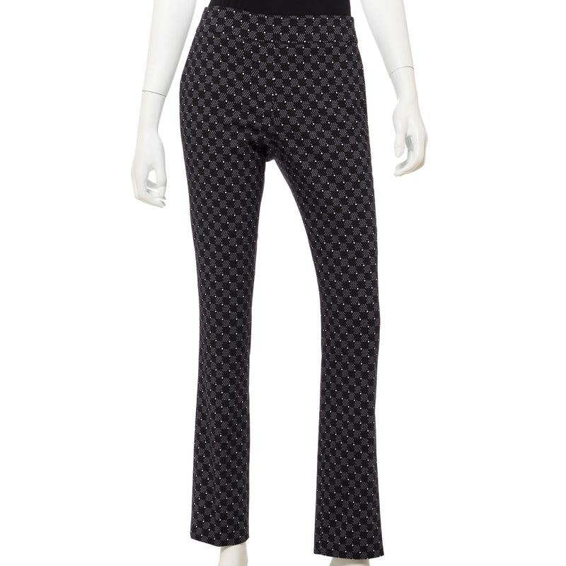 Geo Dot Grid Print Compression Pant - EPNY