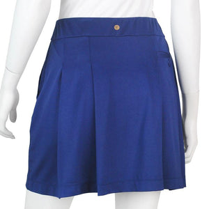 Knit Skort with Back Pleat Detail