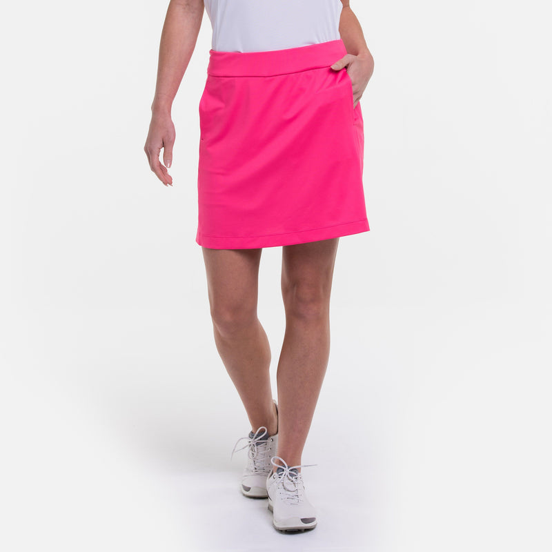 Knit Skort w/ Back Mesh Pleat Detail