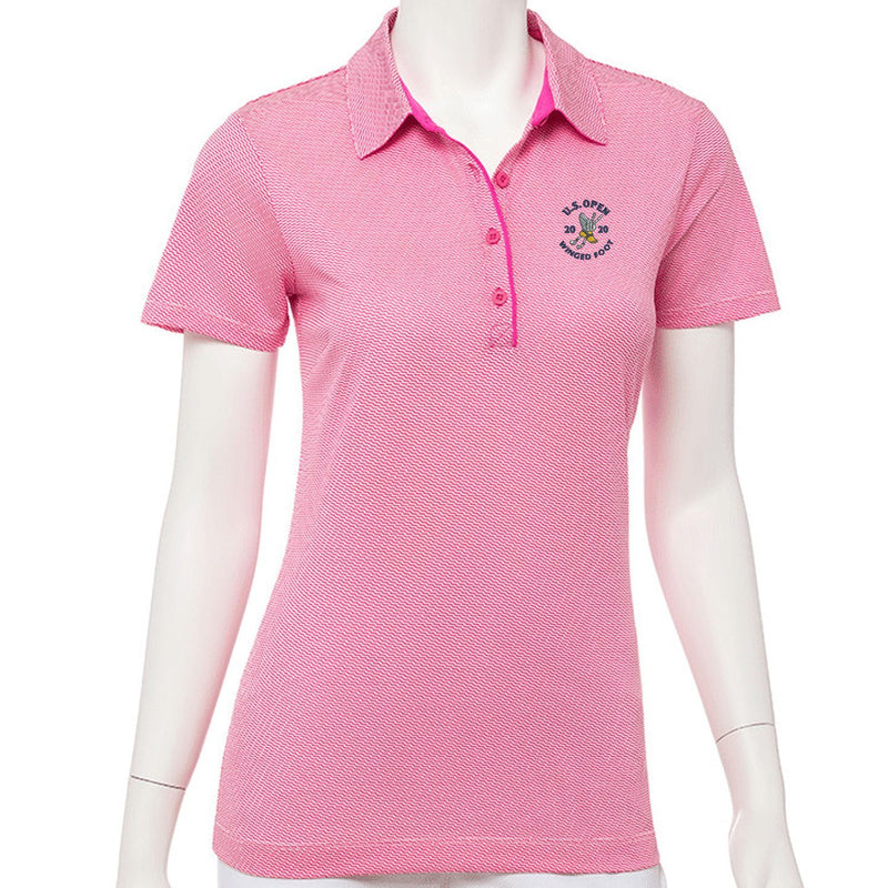 2020 U.S. Open Short Sleeve Geometric Jacquard Polo - EPNY