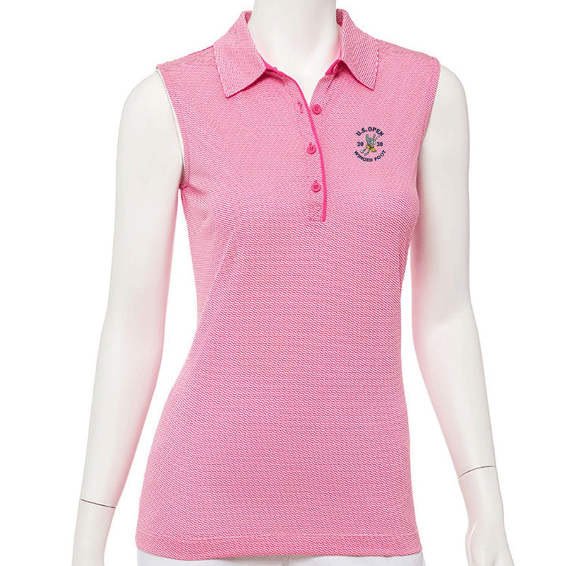 2020 U.S. Open Sleeveless Geometric Jacquard Polo - EPNY