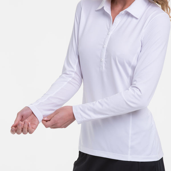 LONG SLEEVE EXT PIP TRIM PLACKET POLO