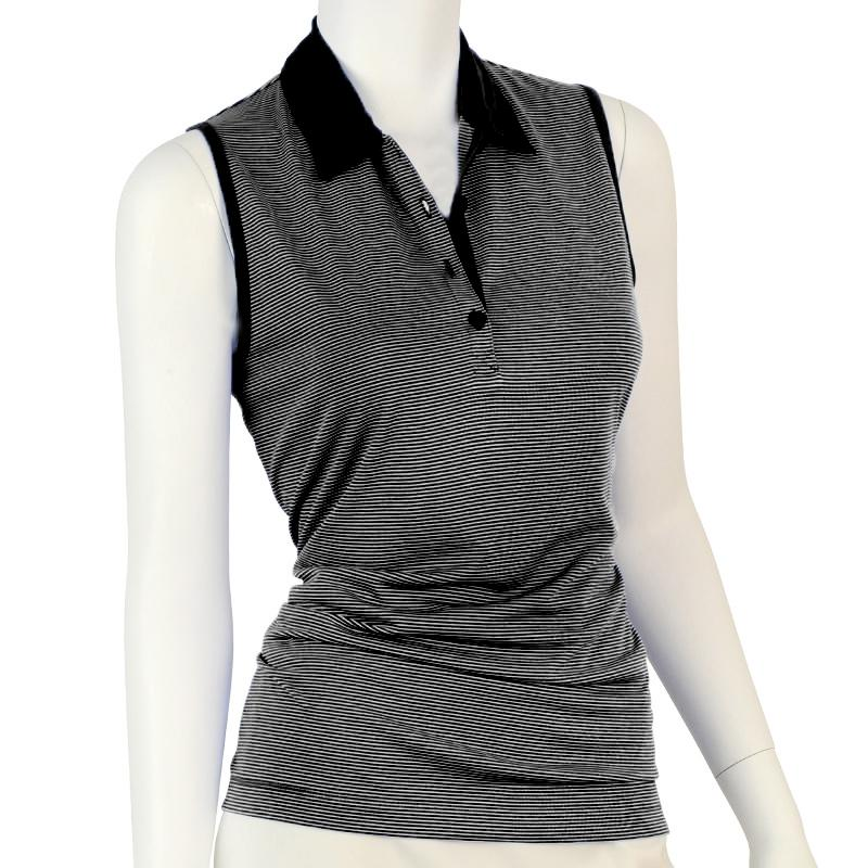 Sleeveless Fine Stripe Polo - EPNY