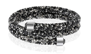 Double Wrap Bracelet Made with Crystal Elements
